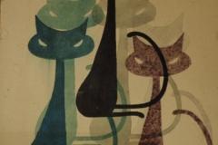 Кошки.-Рисунок-Менякина.-1970-г.
