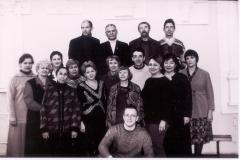 Менякин с сотрудниками кафедры архитектуры
