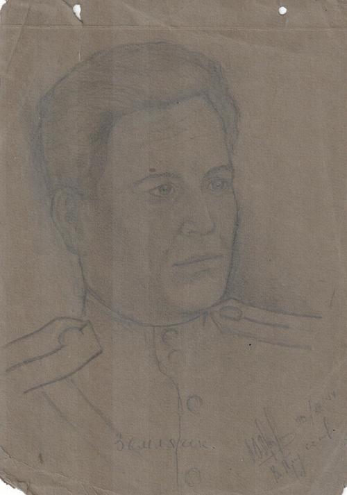 Землячок.-Восточная-Пруссия.20.12.1944.Художник-Менякин-Юрий