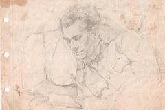 Фронтовой-автопортрет-Менякина-Юрия-1945-год