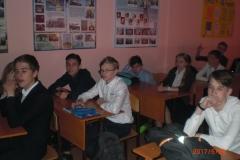 ученики Гимназии №7 слушают Менякина И.Ю.