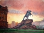 Рисунки Ленинграда архитектора Менякина