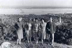 Вид с Соколовой горы. 1962 год.Саратов.