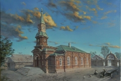 Мечеть. Старый Саратов. Художник Рафик Ильясов