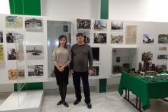 Аникиенко Екатерина и Менякин Иван в музее лицея Солярис