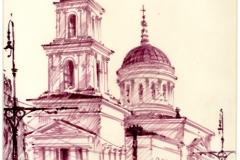 Церковь-Михаила-Архангела-ул.-Московская-Саратов-художник-Менякин