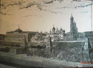 Старинное-настенное-блюдо-Православные-Храмы-Москва