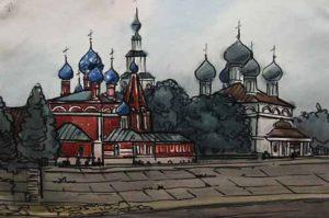 Церковь художник Менякин Юрий