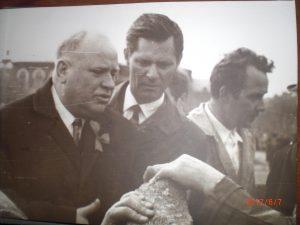Первый секретарь обкома КПСС А.И. Шибаев и главный архитектор Саратова Менякин Ю.И.