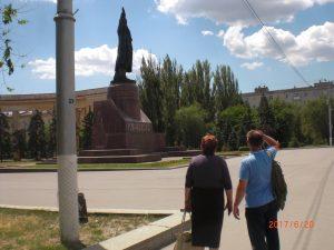 Менякина на Площади Ленина в Волгограде