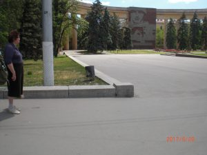 Менякина в Волгограде у дома Павлова