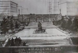 Памятник-Федину Саратов-5-рисунок-Менякина