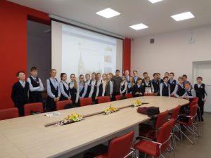 Менякин с учениками лицея Солярис