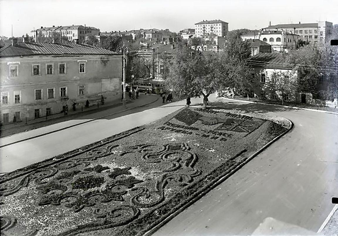 Клумба-советско-британской-дружбы-Saratov-Bristol-1960-год